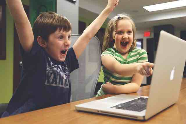 Children Happy With Free Website